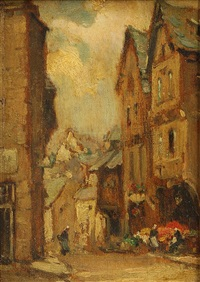 a street in dinan by owen bowen