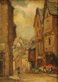 a street in dinan by owen bowen