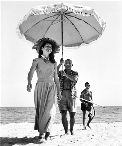 Picasso and Françoise Gilot Golfe-Juan by RobertCapa