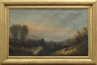 view of the hudson river valley by george herbert mccord
