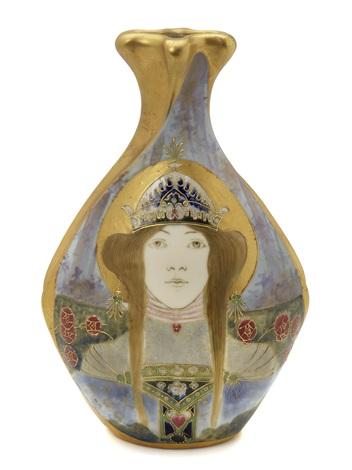 allegory of russia portrait vase by amphora werke reissner