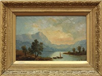 study of echo lake, white mountains, new hampshire by john williamson