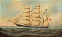 """spirit of the morning"" heading out to sea by w.l. alfred"
