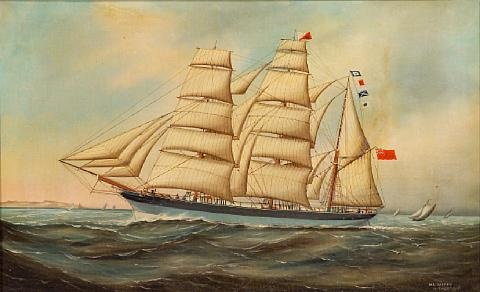 quotspirit of the morningquot heading out to sea by wl alfred