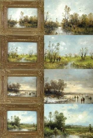 die vier jahreszeiten 4 works by ludwig frey