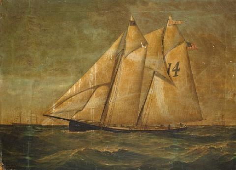 """pilot boat 14 - the """"e.f. williams"""" by conrad freitag"""