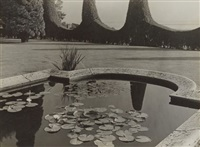 the water lily pond in the warburg family park, hamburg-blankenese by albert renger-patzsch