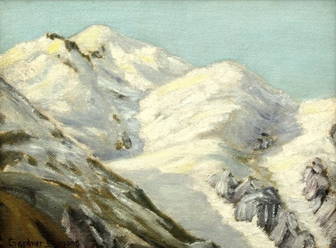 snow capped mountain study by george gardner symons