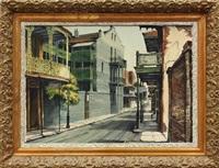 new orleans street scene by rolland harve golden