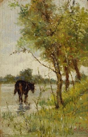 paesaggio con cavallo by giovanni fattori