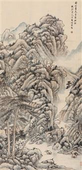 秋山图 (landscape) by dai zhennian