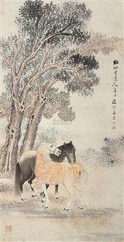 双骏图 (horse) by jiang tao