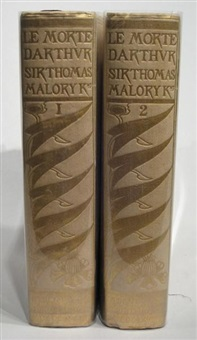 the birth life and acts of king arthur of his noble knights of the round table their marvellous enquests and adventures (2 vols by sir thomas malory w/ 22 works, 4to) by aubrey vincent beardsley