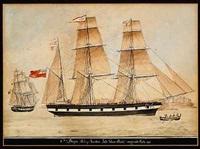 skibsportræt af barque ada by nicolas s. cammillieri