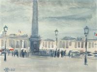 place de la concorde by helmut müller-wiehl