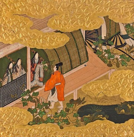 scenes from the tale of genji 10 works by japanese school tosa 17