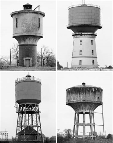 water towers 4 works by bernd and hilla becher