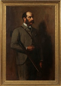 portrait of a hunter by george reid
