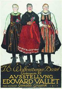 ausstellung edouard vallet, j.e. wolfensberger basel by edouard (eugène françois) vallet