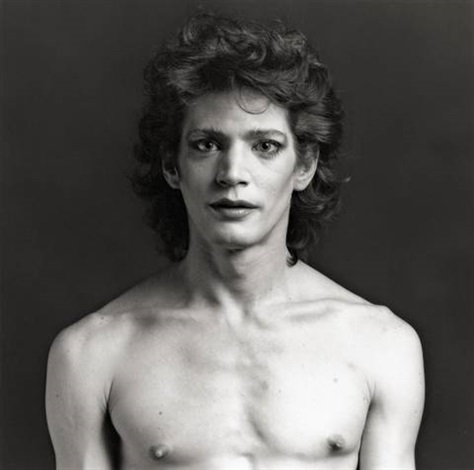 self portrait with make up nyc by robert mapplethorpe