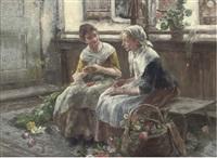 the two flower girls by arthur langhammer
