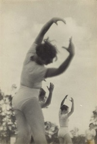 excercises on the dynamo stadium by alexander rodchenko