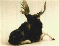 liegender elch by hutschenreuther