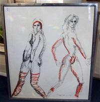 aerobics dancers by tom merrifield