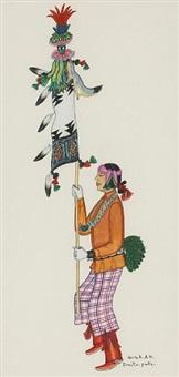 a standard bearer from a pueblo ceremonial by tonita pena