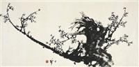 墨梅图 (ink plum blossom) by liang zhanfeng
