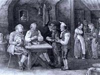 beim kartenspiel hausliche arbeit by johanes baptiste pflug