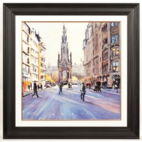 autumn light, scott monument, edinburgh by james somerville lindsay
