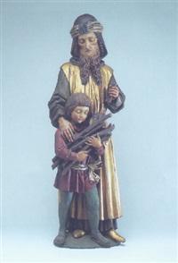 abrahams opfer: abraham, in der erhobenen linken das messer by johann piger