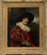 cavalier in a red coat by alex de andreis