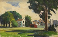 california landscape with house and farm by marques e. reitzel