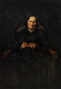 portrait of an older woman by georg niemann