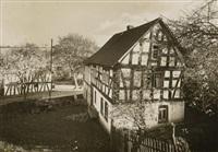der westerwald höchstenbach. in diesem haus wohnte blücher vor dem rheinübergang 1813/1814 by august sander