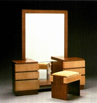 architectural modern bedroom suite (7 pieces) by morris