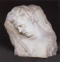 buste alfred von barys als schlafender thannhäuser by jenny luise s. von bary-doussin