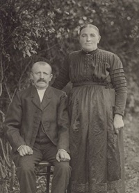 married couple from niederirsen by august sander
