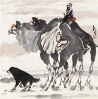 沙漠之舟 (camel) by ma zhensheng