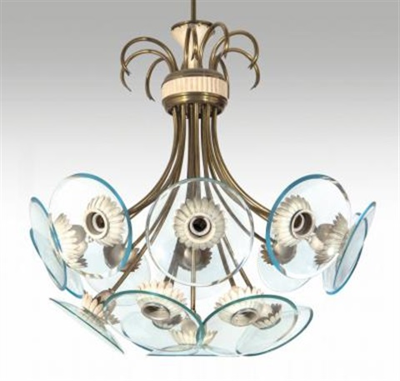 Un lampadario, inizi anni 50 by Fontana Arte on artnet