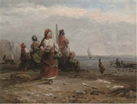 fisherfolk along the shore by john anthony puller
