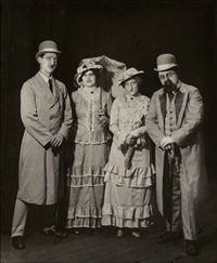 group of actors from the review gross köln by august sander