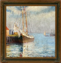 gloucester, new england harbor by george howell gay