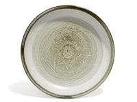 sgraffito charger by robert arneson