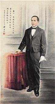 为迪亚斯总统作华莱士画像 (laishi's portrait dedicated to president diaz) by li lingjia