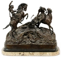 cossacks on horseback by evgeni evgen'evich lansere