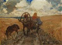 feldweg by mikhail ivanovich avilov