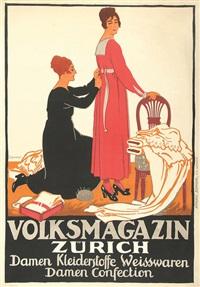 volksmagazin zürich, damen kleiderstoffe weisswaren damen confection by jules-ami courvoisier